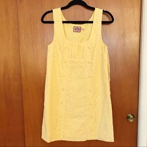 Juicy Couture size 2 yellow shift dress